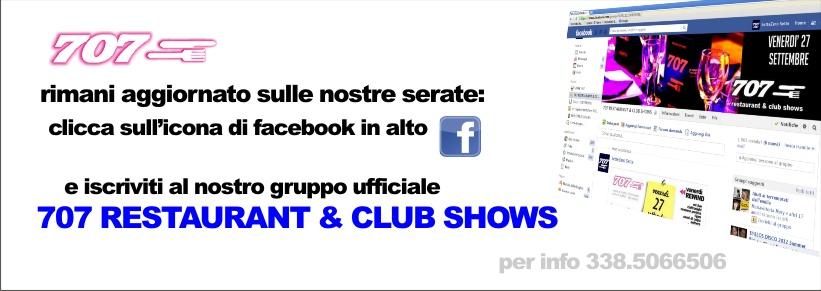 Settezerosette restaurant & club Show aggiungici su facebook